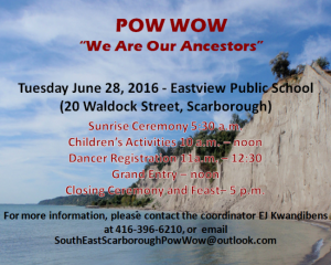 South East Scarborough Pow Wow | Image Source: EJ Kwandibens