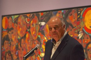 Curator William Kingfisher of Rama First Nation discusses works from Arthur Shilling