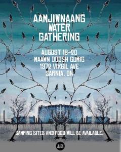 Aamjwnaang Water Gathering | Image source: AURA