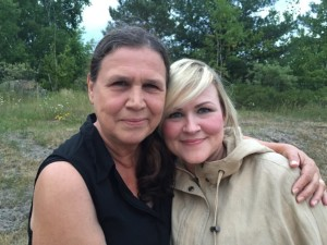 Emerging Indigenous playwright, Sarah Gartshore (right) with proud mother, Lois Apaquash (left).