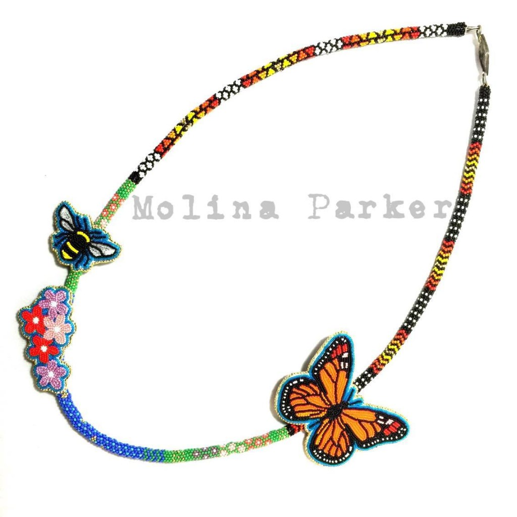 Butterfly Necklace | Image source: Molina's Lakota Beadwork