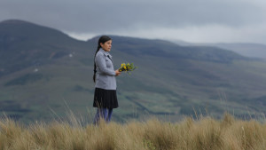 Nelida stands in the Andes | Image source: Hija de la Laguna still