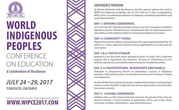 WIPCE 2017 Conference Program