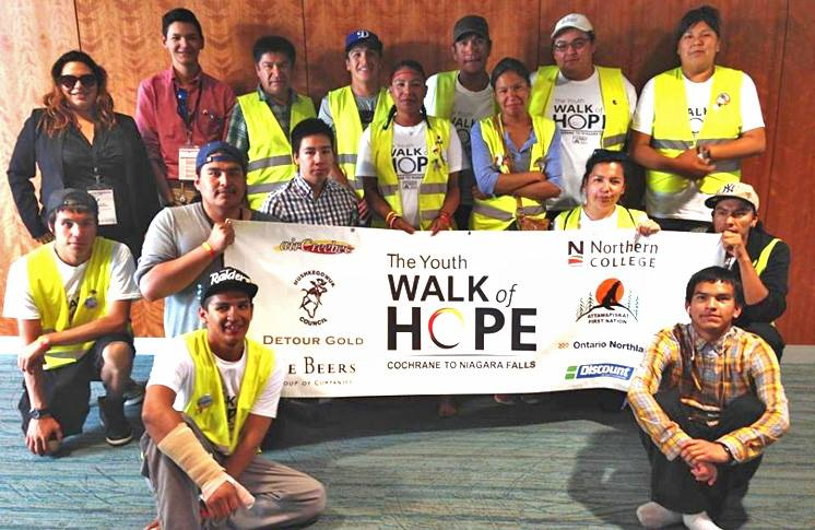 The Youth Walk of Hope were welcomed by the National First Nations Youth Council
