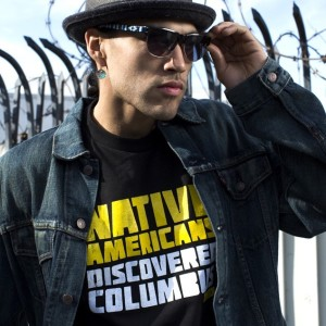 """""""Native Americans Discovered Columbus"""" Tee 