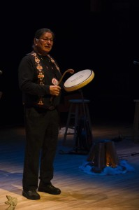 John Rice sharing a beautiful traditional hand drum song | Image credit: Matt McGregor