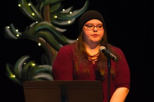 Rachel Pegahmagabow shared striking poetry | Image Credit: Matt McGregor