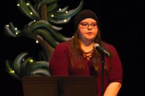 Rachel Pegahmagabow shared striking poetry | Image Credit: Matt McGregor
