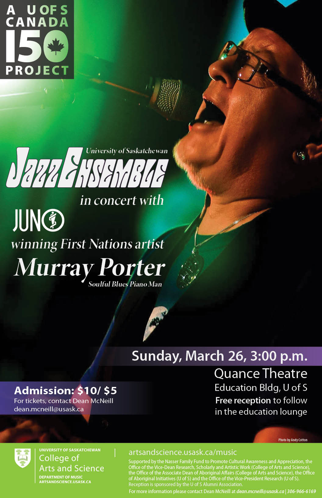 University of Saskatchewan Jazz Ensemble Featuring Murray Porter
