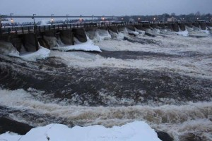 The dammed Chaudiere Falls | Image Credit: Dr. Peter Stockdale