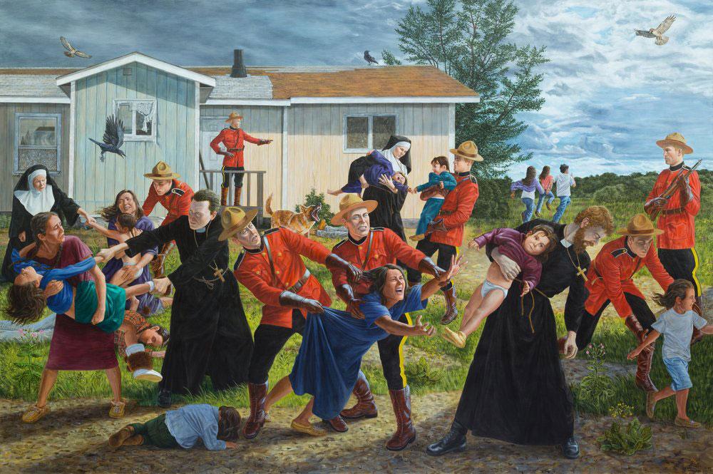 """The Scream, 84"""" x 132"""", Acrylic on Canvas, 2017"""