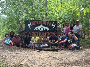 Members of Nimkii Aazhabikong | Image Source Christi Belcourt's Facebook