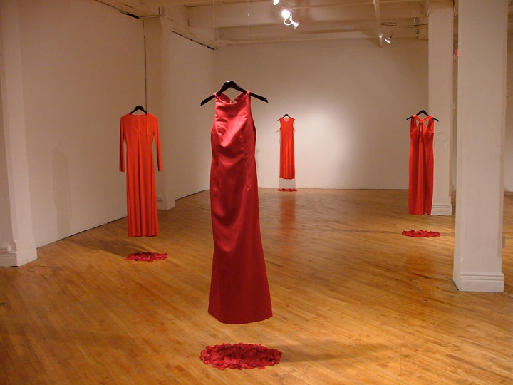 Photo of Jaime Black's installation at the University of Winnipeg's REDress Project. | Image source: http://www.theredressproject.org/