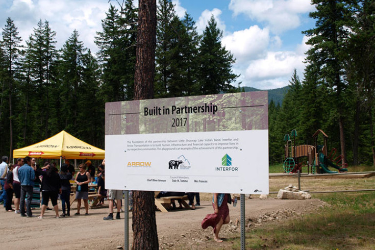 Arrow, Interfor and the Little Shuswap Lake Indian Band Slide into New Partnerships