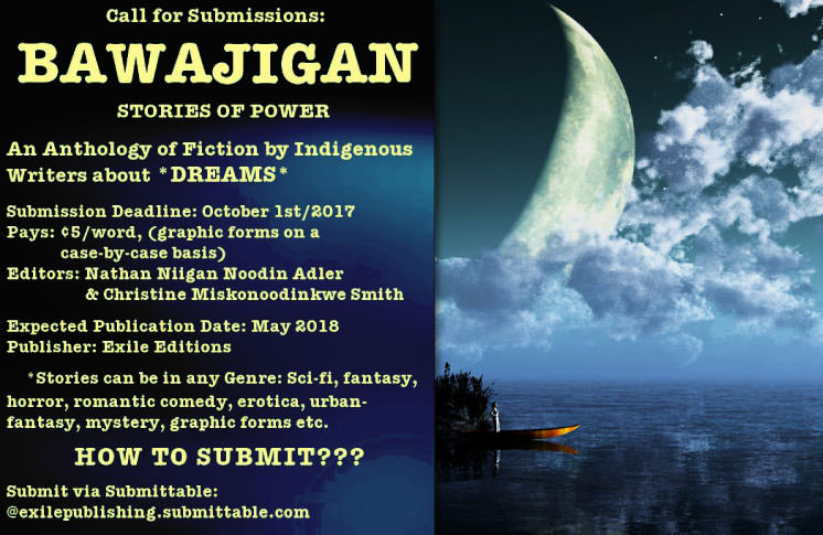 Call out for Submissions: Bawajigan-Stories of Power: An Anthology of Fiction by Indigenous Writers