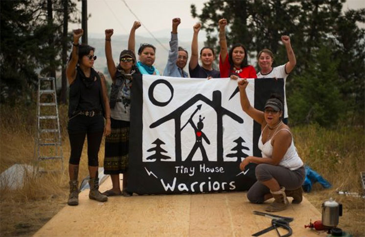 Secwepemc Nation 'Tiny House Warriors' to build tiny homes in Kinder Morgan's path