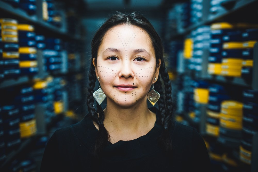 Up and coming Inuit artist, Asinnajaq