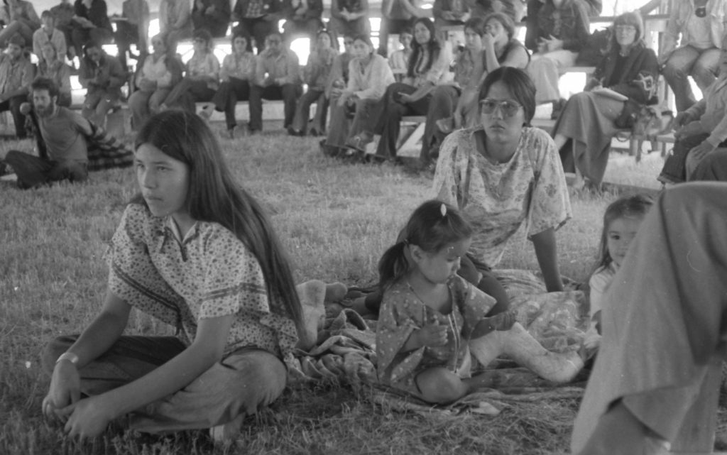 Marcy attends an International Indian Treaty Council meeting as a teenager in the 1970s   Image source: Jean Francois Graugnard