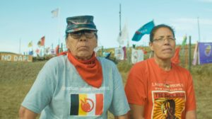 Madonna Thunder Hawk & Marcy Gilbert in Standing Rock, ND to protest the Dakota Access Pipeline.