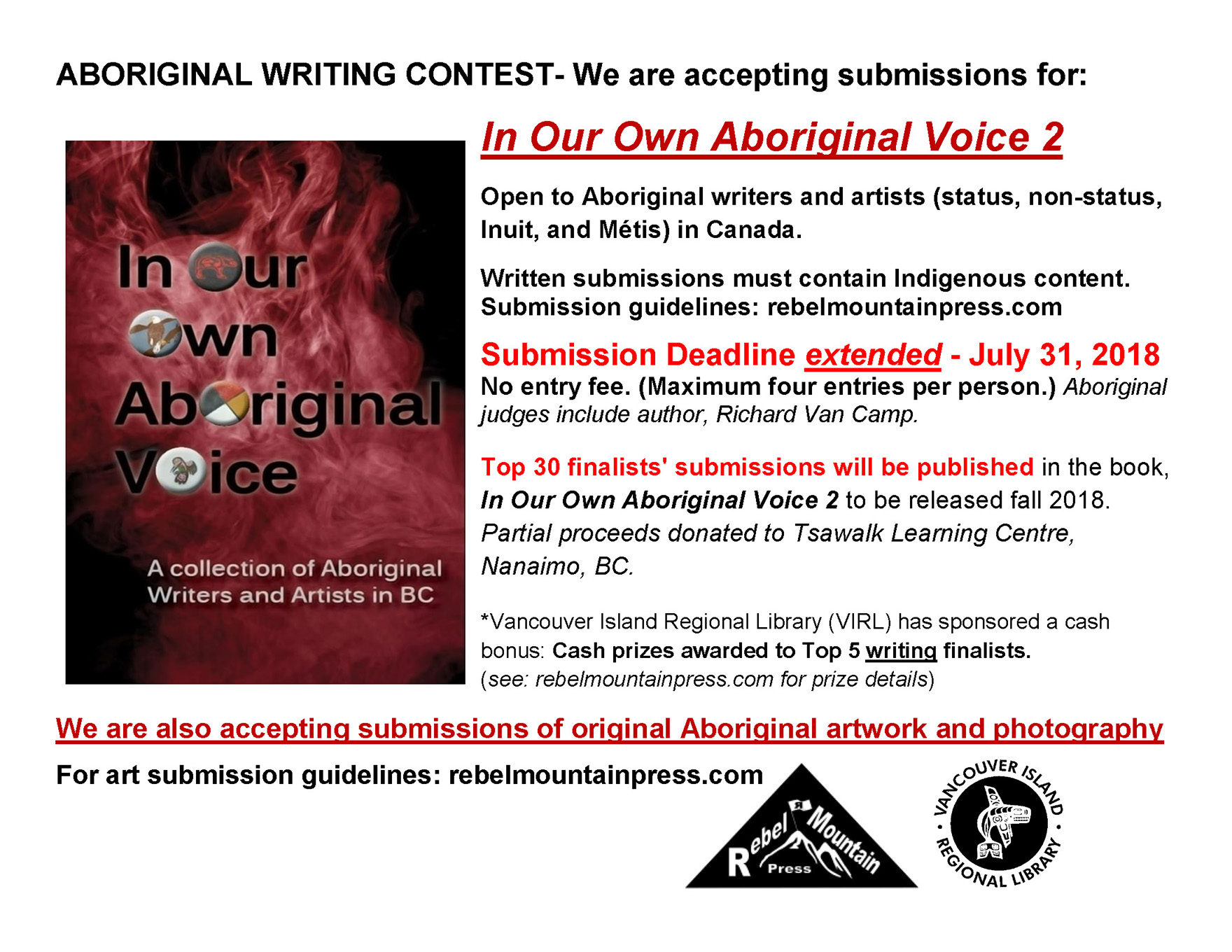 Submission Call Deadline: July 31, 2018