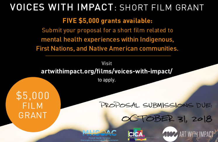 Voices With Impact Short Film Grant Mental Health Experiences