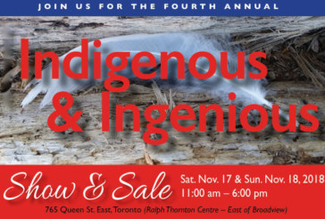 4th Annual Indigenous & Ingenious Show & Sale: November 17 & 18, 2018