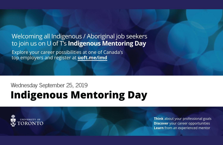 Indigenous Mentoring Day – September 25, 2019