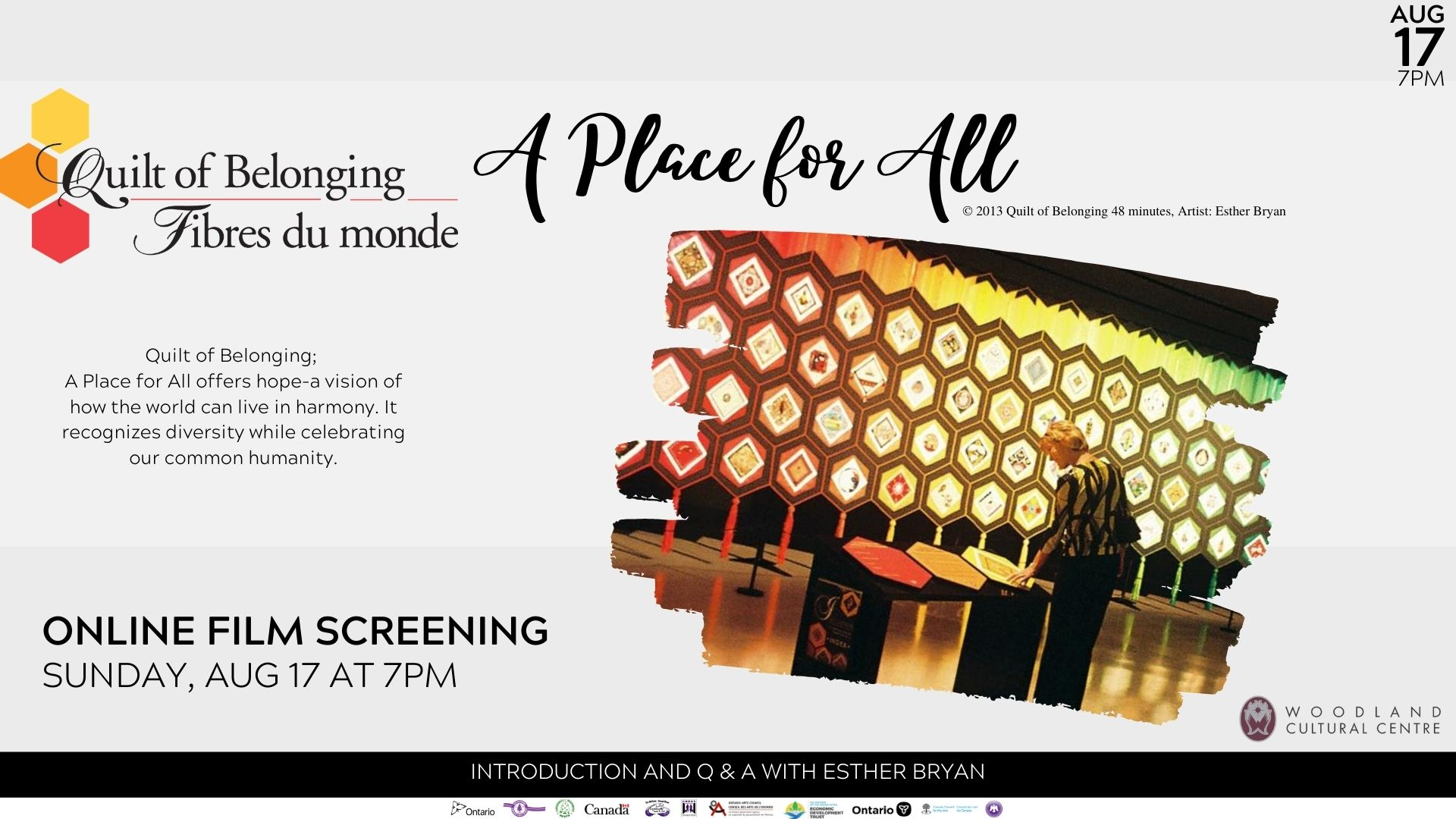 "Online Film Screening: Quilt of Belonging ""A Place for All"""