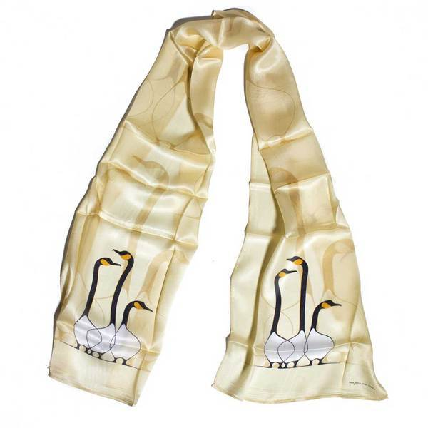 Off-white Silk Scarf from Beaded Dreams