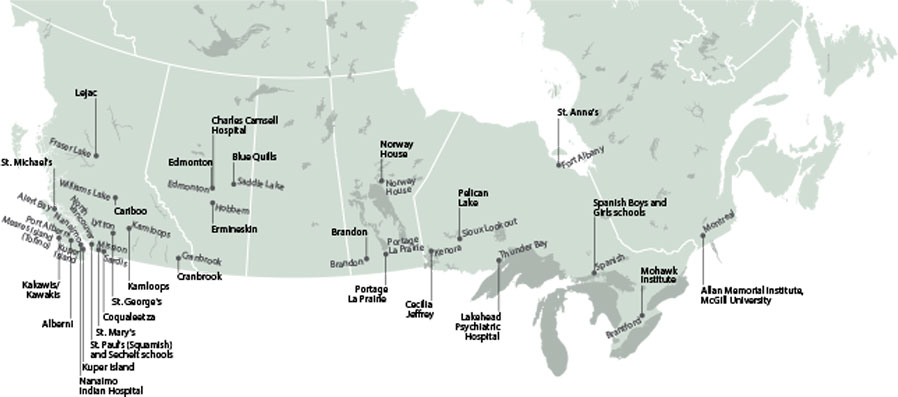 Map of Residential School