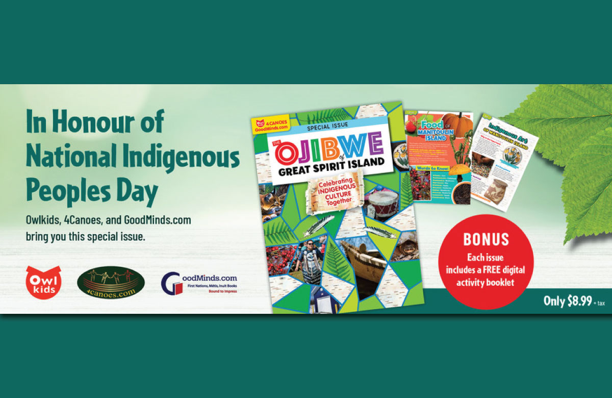 Owlkids, 4Canoes, and GoodMinds.com partner to create special youth magazine for National Indigenous Peoples Day 2021