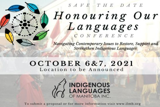 Save the Date - Honouring Our Languages Conference 2021 - October 6 & 7