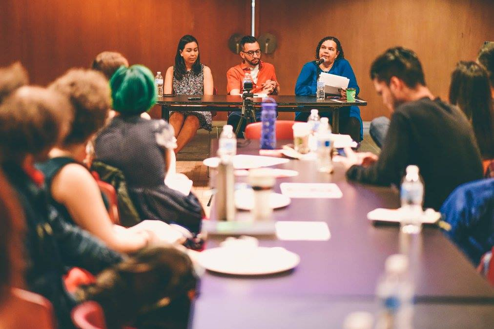 Zainab speaking at the Mixed Race Identity and Family Panel | Image source: Shelby Lisk Photography